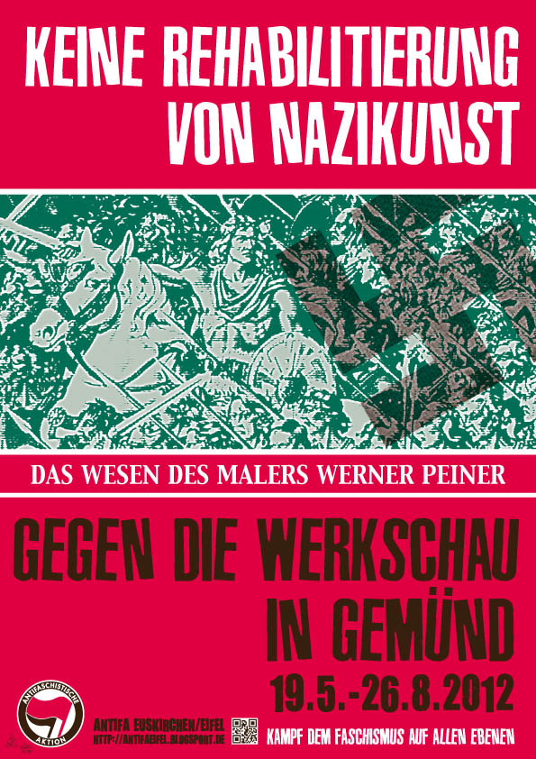 Plakate gegen Peiner Werkausstellung